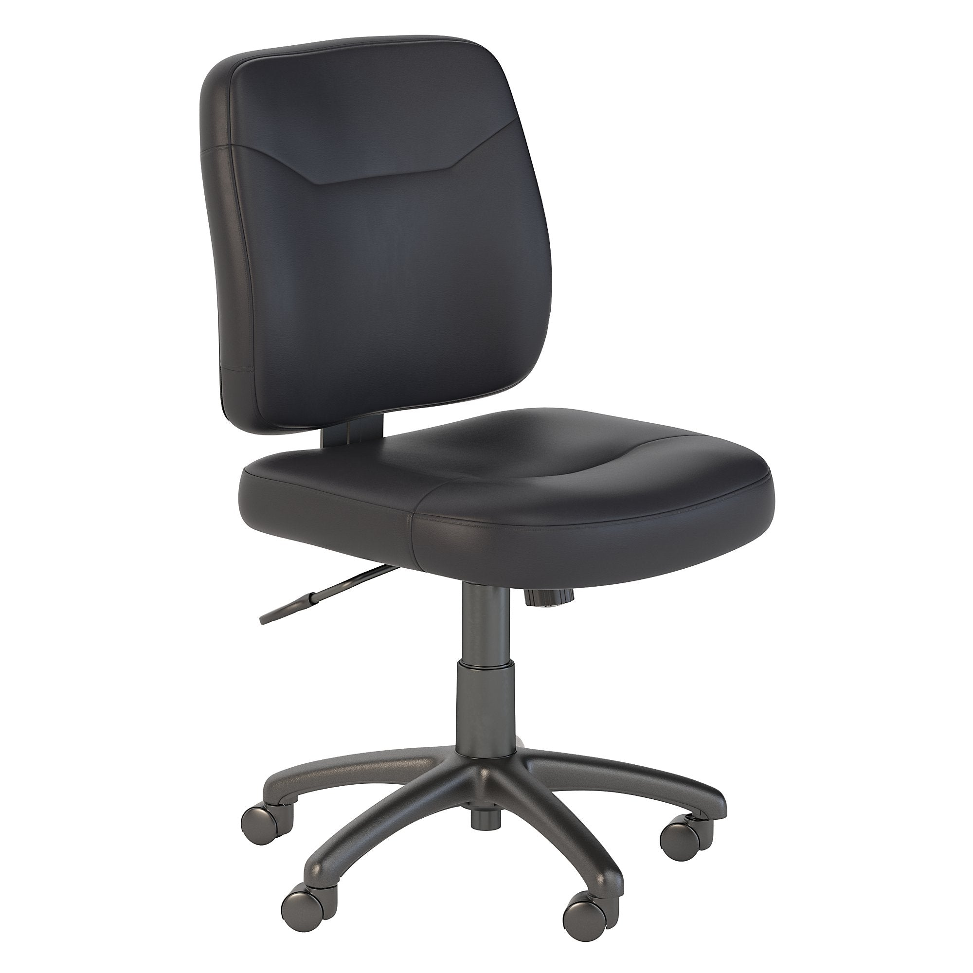CH1903BLL-03 Bush Business Furniture Stanton Black Leather Task Chair