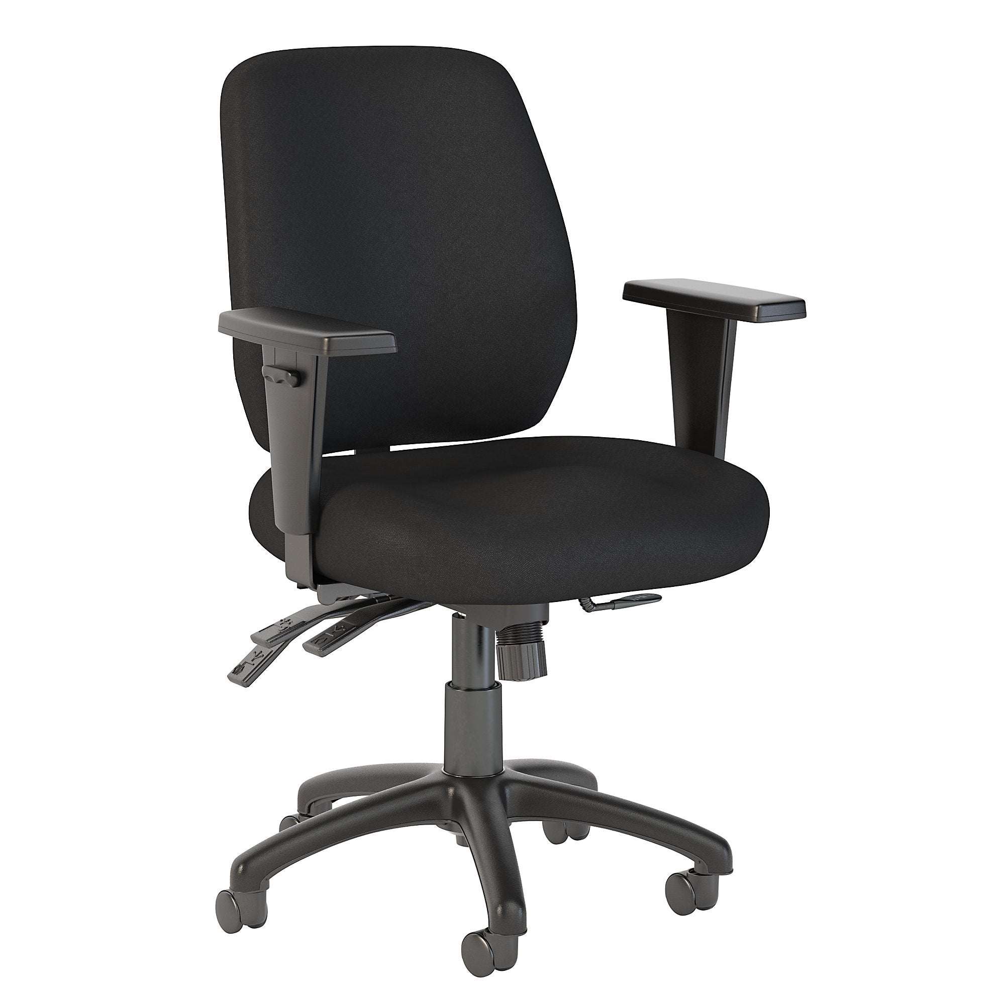 CH2001BLF-03 Bush Business Furniture Prosper Mid Back Multifunction Black Fabric Office Chair