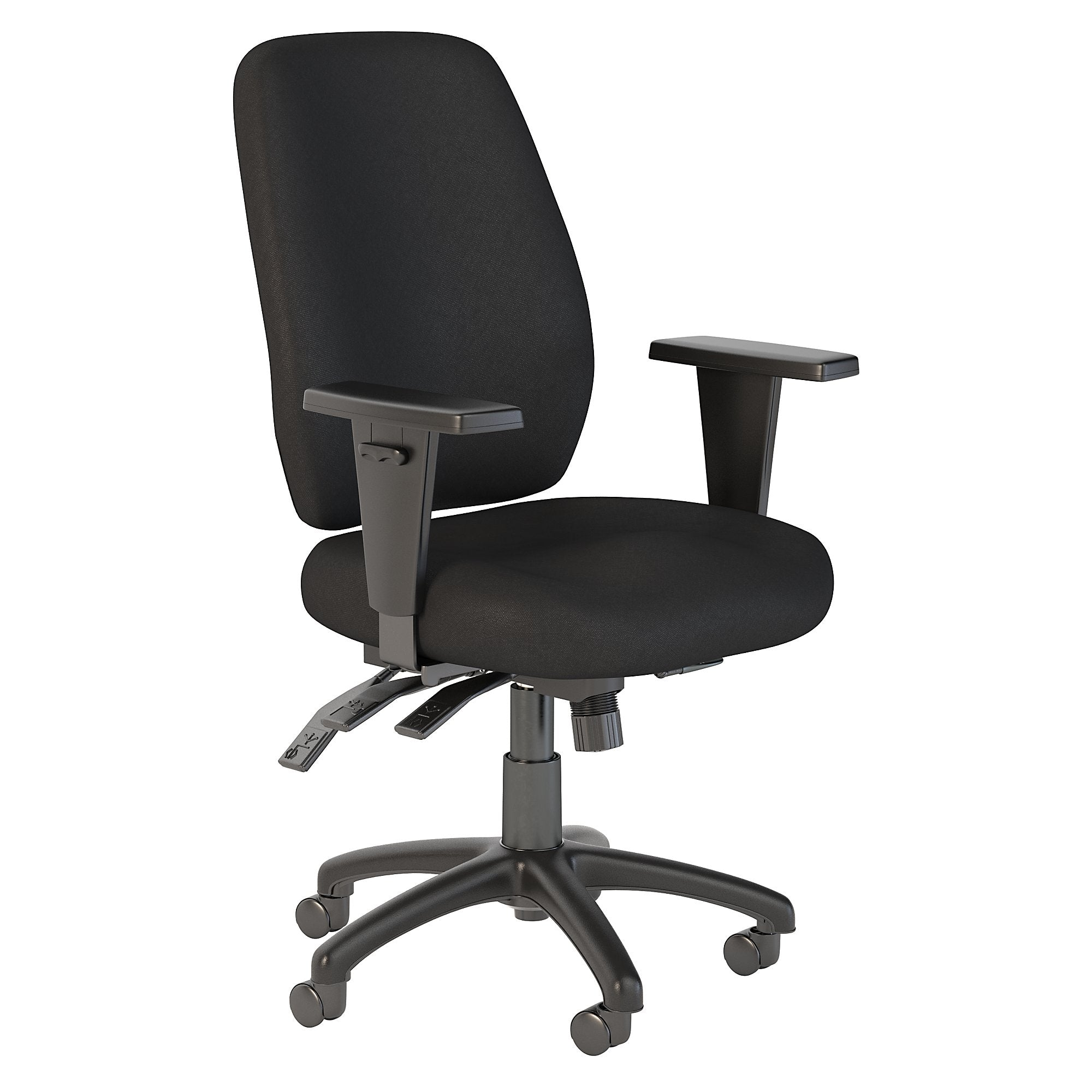 CH2003BLF-03 Bush Business Furniture Prosper High Back Multifunction Black Fabric Office Chair