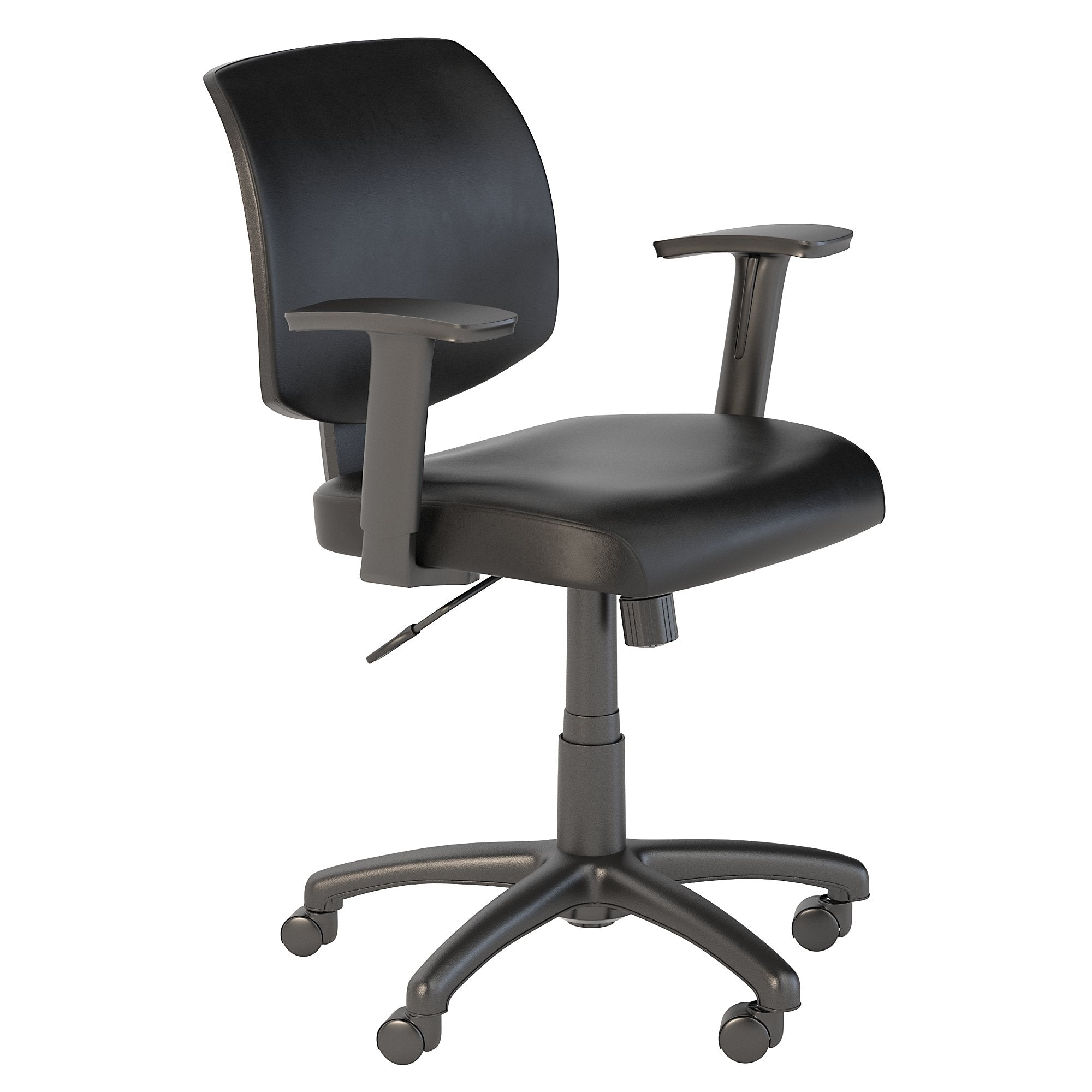 CH2101BLL-03 Bush Business Furniture Petite Black Leather Office Chair