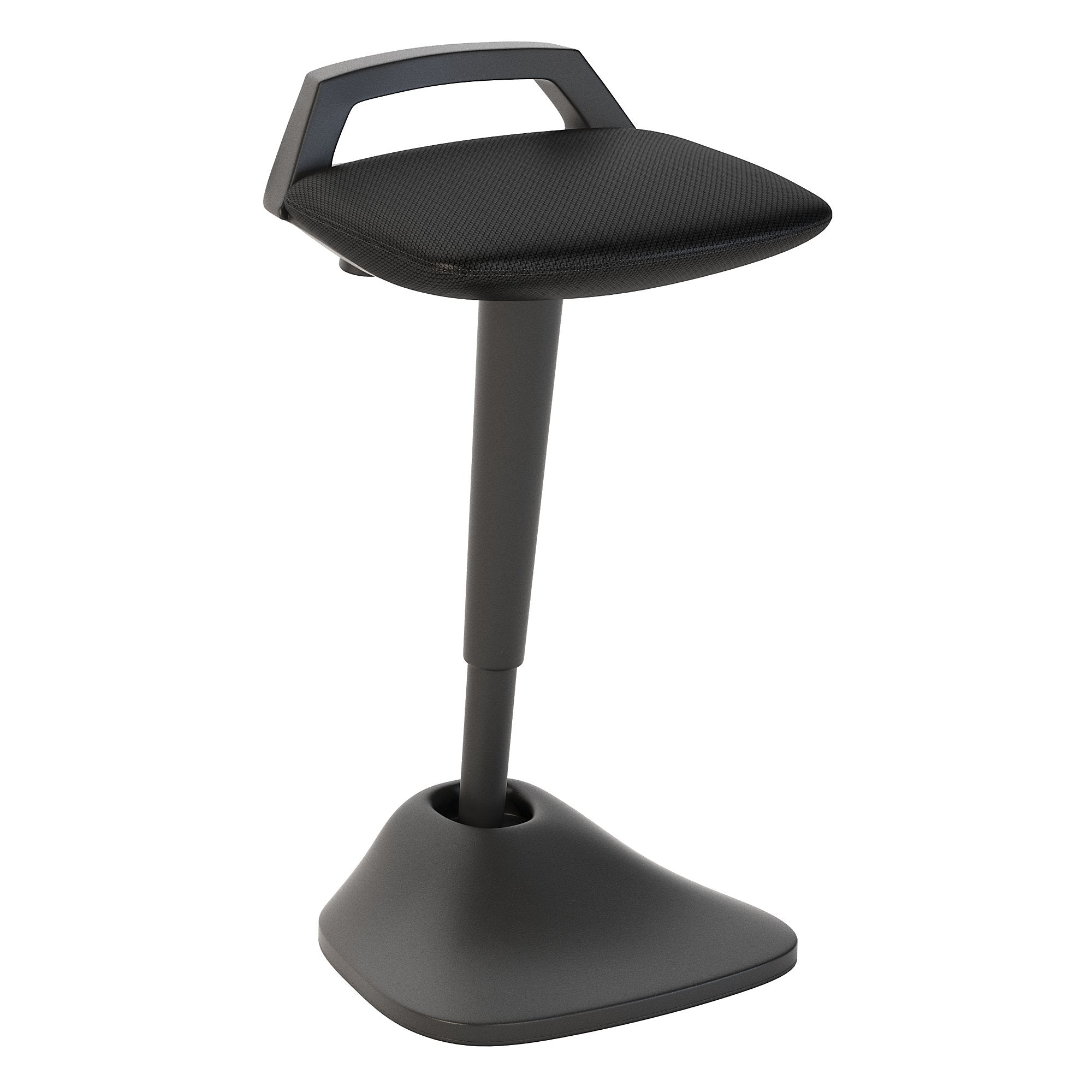 CH2201BLF-03 Bush Business Furniture Black Nylon Mesh Thrive Adjustable Standing Desk Stool