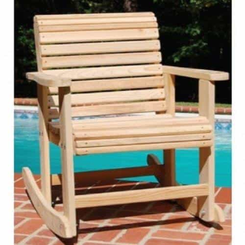 Outdoor Rot-Resistant Rolled Front Contoured Seat 4 Ft Cypress Rocker