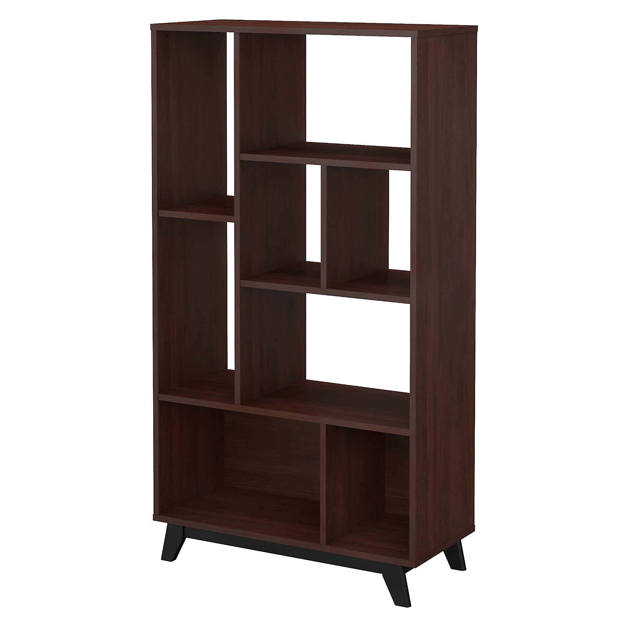 Office by kathy ireland® Century Walnut Centura 8 Shelf Bookcase
