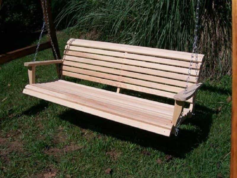 Louisiana Cypress Swing, Outdoor Furniture, Swing