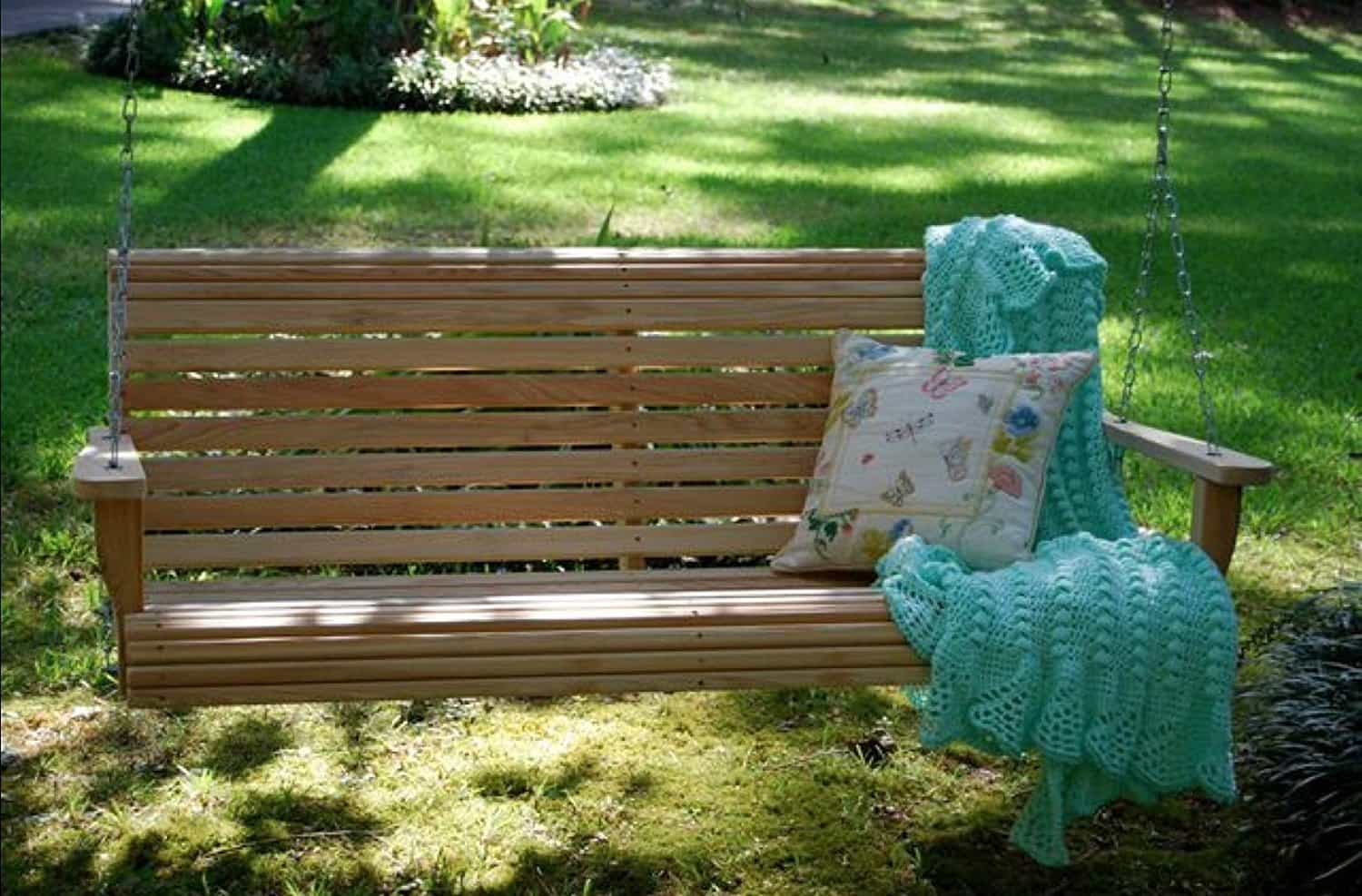 Outdoor Furniture 4 Ft Cypress Lumber Roll Back Rot-resistant Swing
