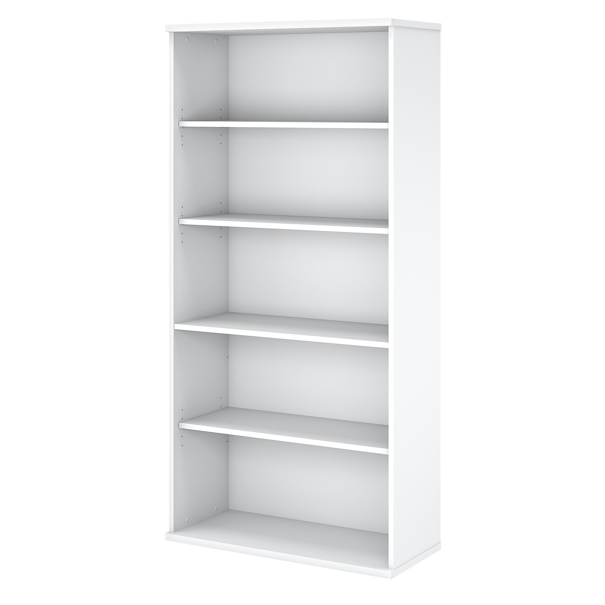 Easy Office 5 Shelf Bookcase- White
