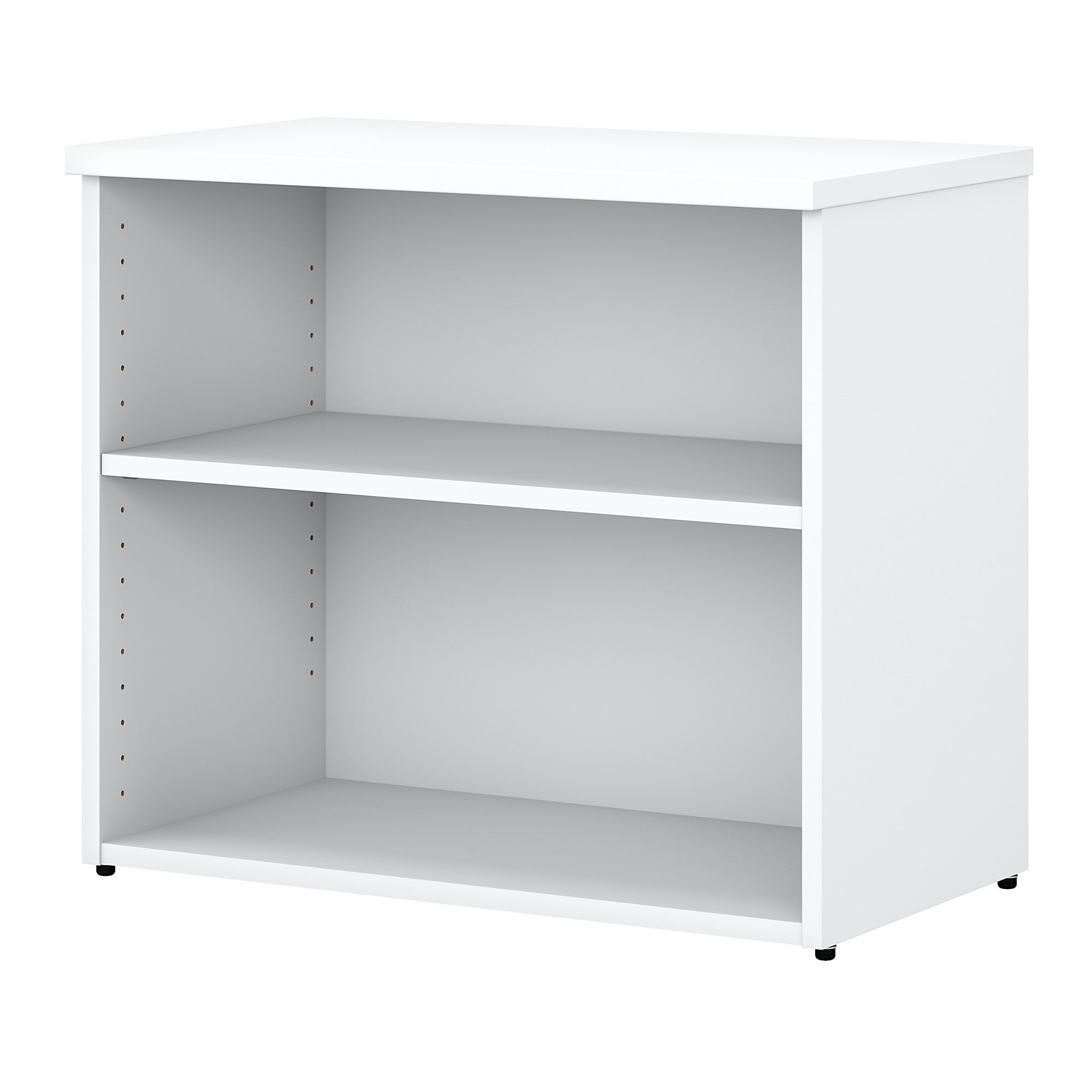 Easy Office 2 Shelf Bookcase- White