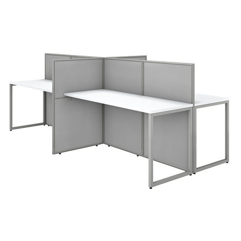 Easy Office 60W 4 Person Cubicle Desk Workstation with 45H Panels