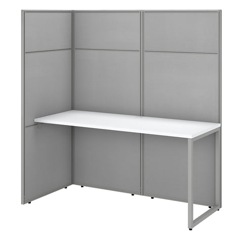 Easy Office 60W Cubicle Desk Workstation with 66H Open Panels