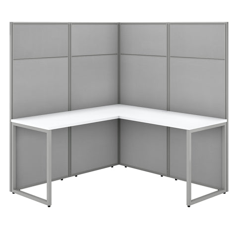 Easy Office 60W L Shaped Cubicle Desk Workstation with 66H Panels