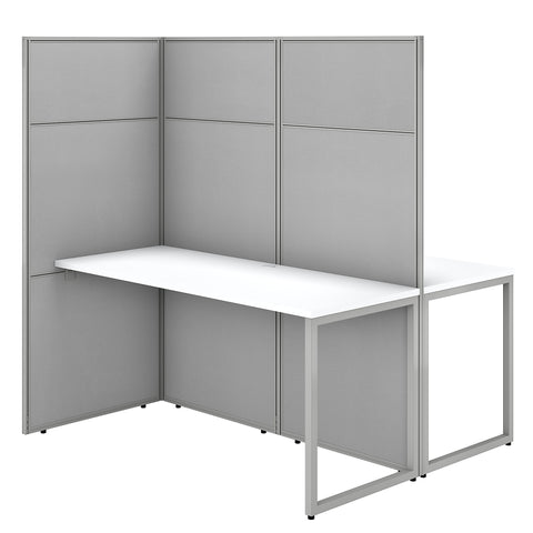 Easy Office 60W 2 Person Cubicle Desk Workstation with 66H Panels
