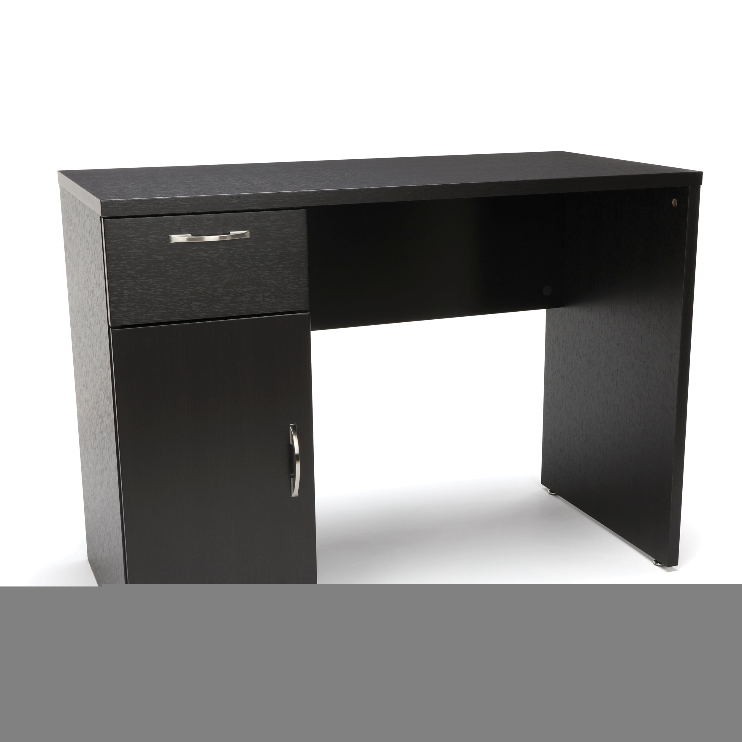 Essentials by OFM Single Pedestal Solid Panel Desk W/ Drawer & Cabinet