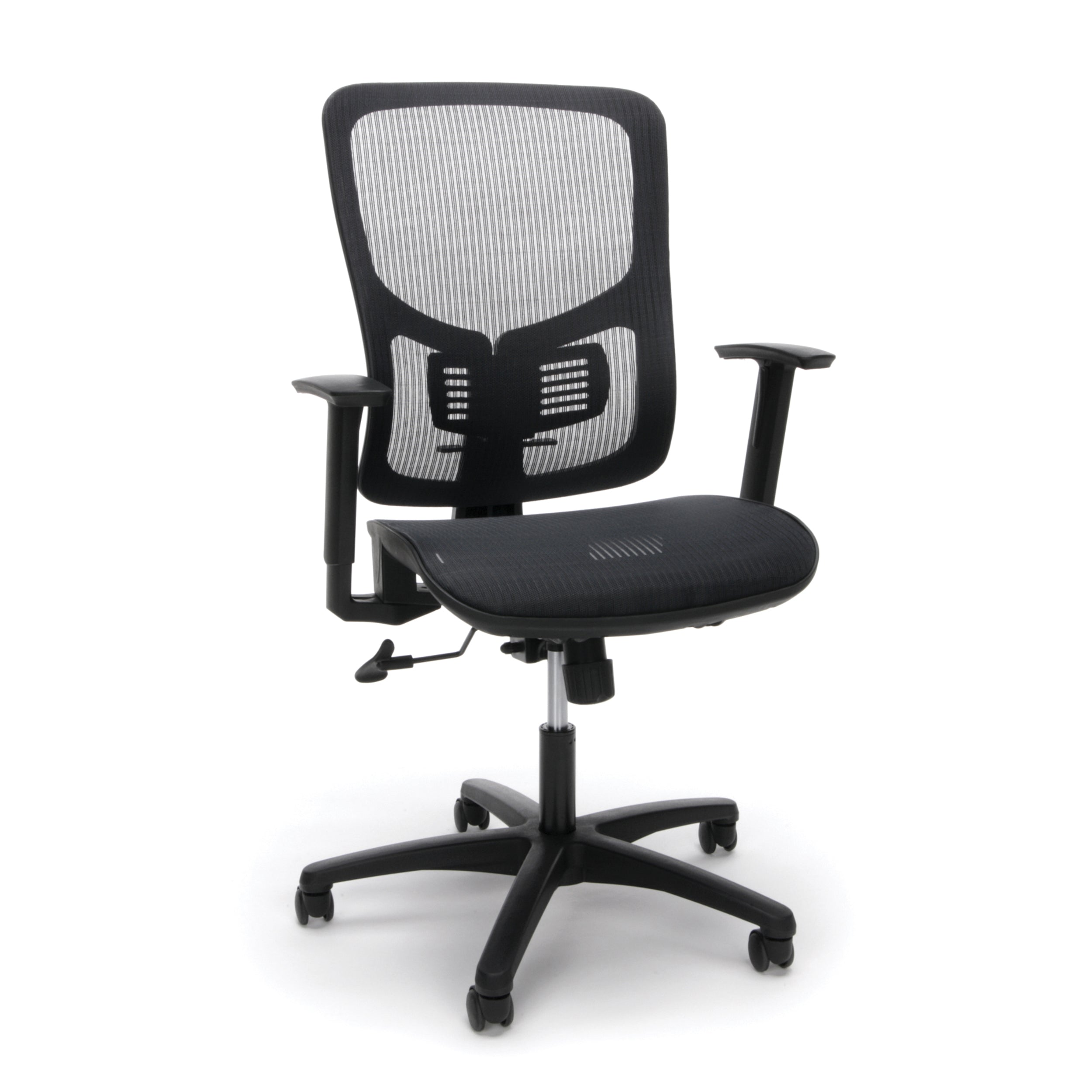 Essentials by OFM Mesh Seat Ergonomic Chair with Arms & Lumbar Support