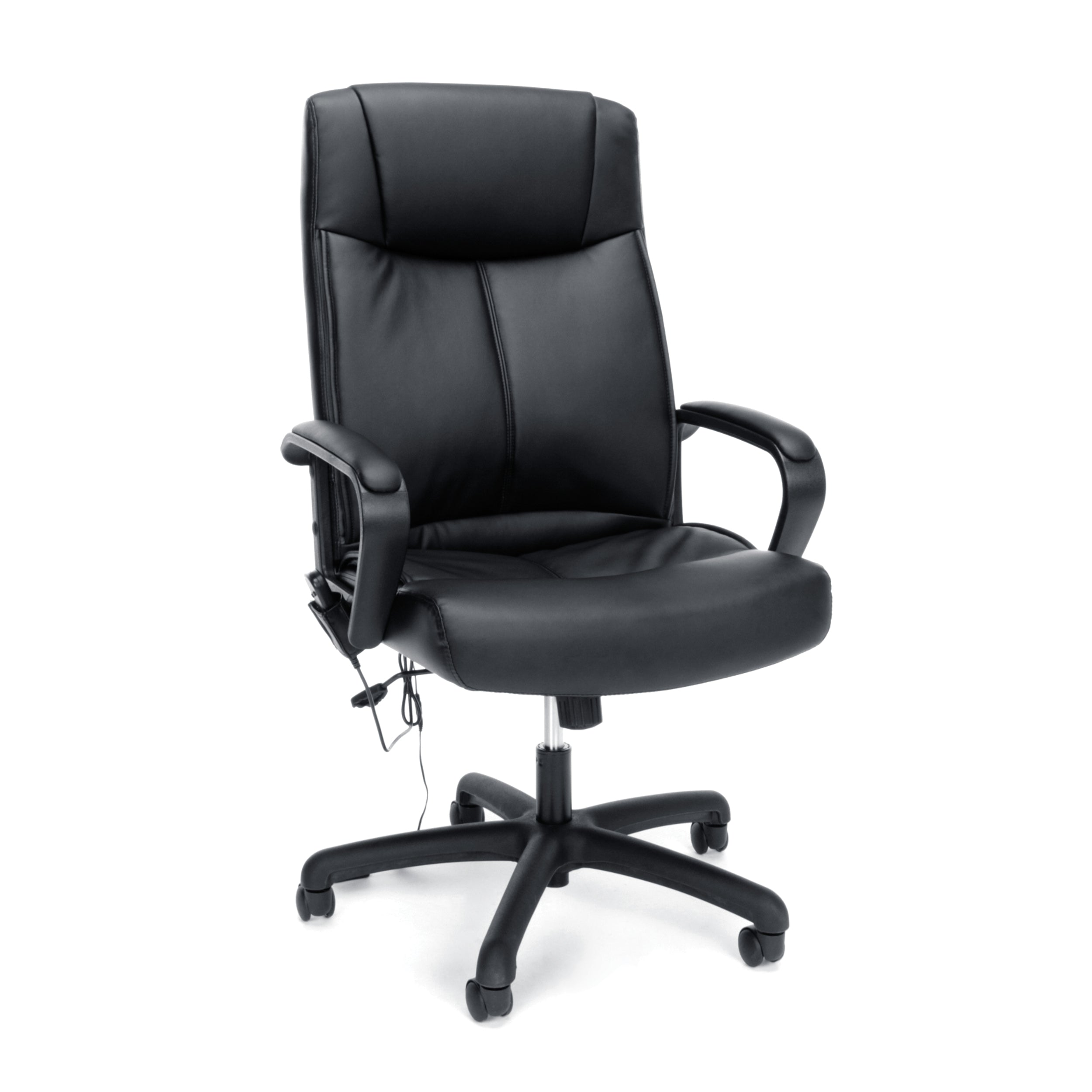Essentials by OFM Vibrating Massage High-Back Leather Office Chair