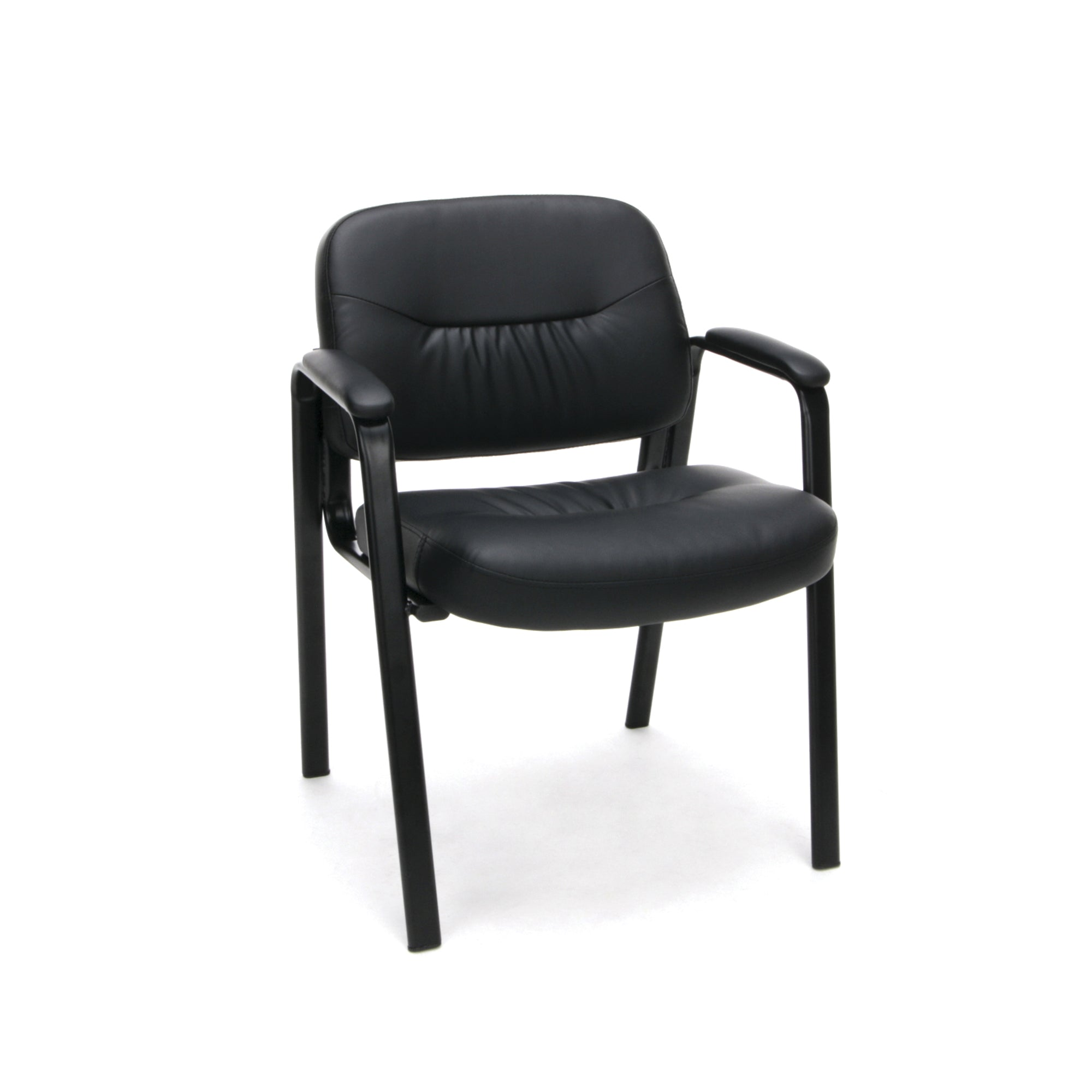 ESS-9010 Essentials by OFM Leather Executive Side Chair with Legs