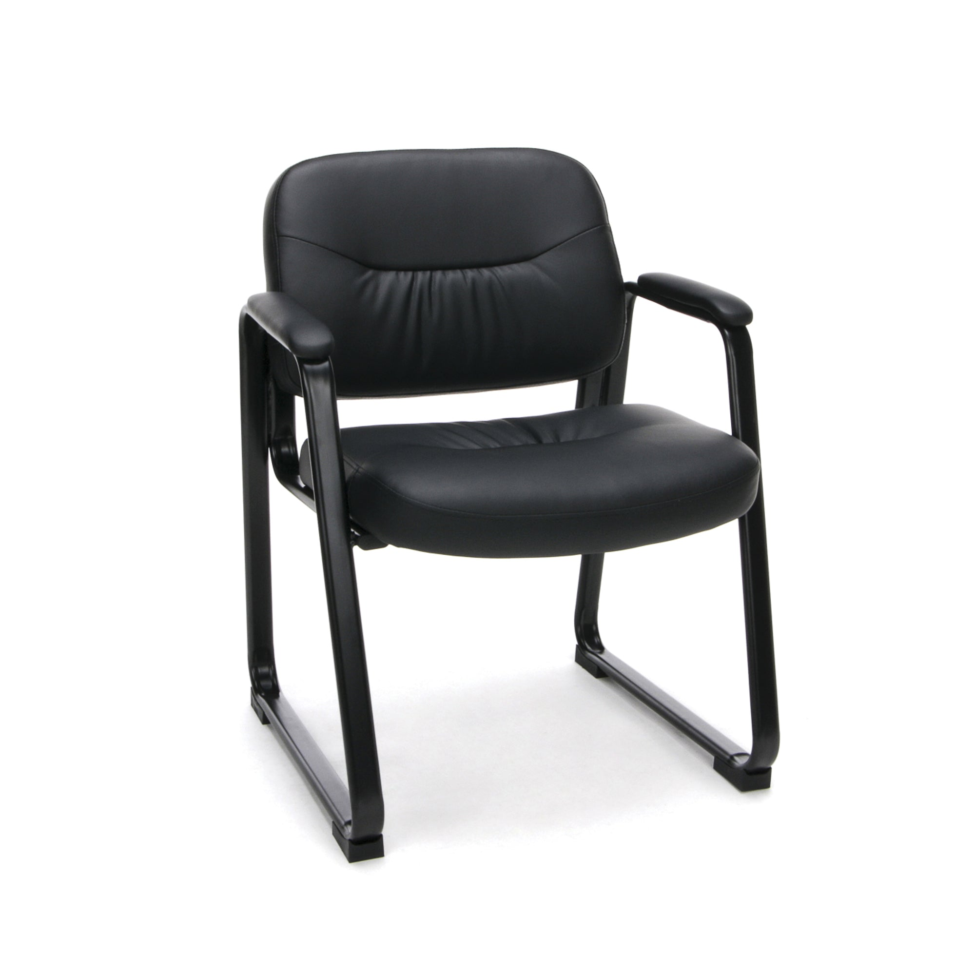 ESS-9015 Essentials by OFM Executive Leather Side Chair with Sled Base