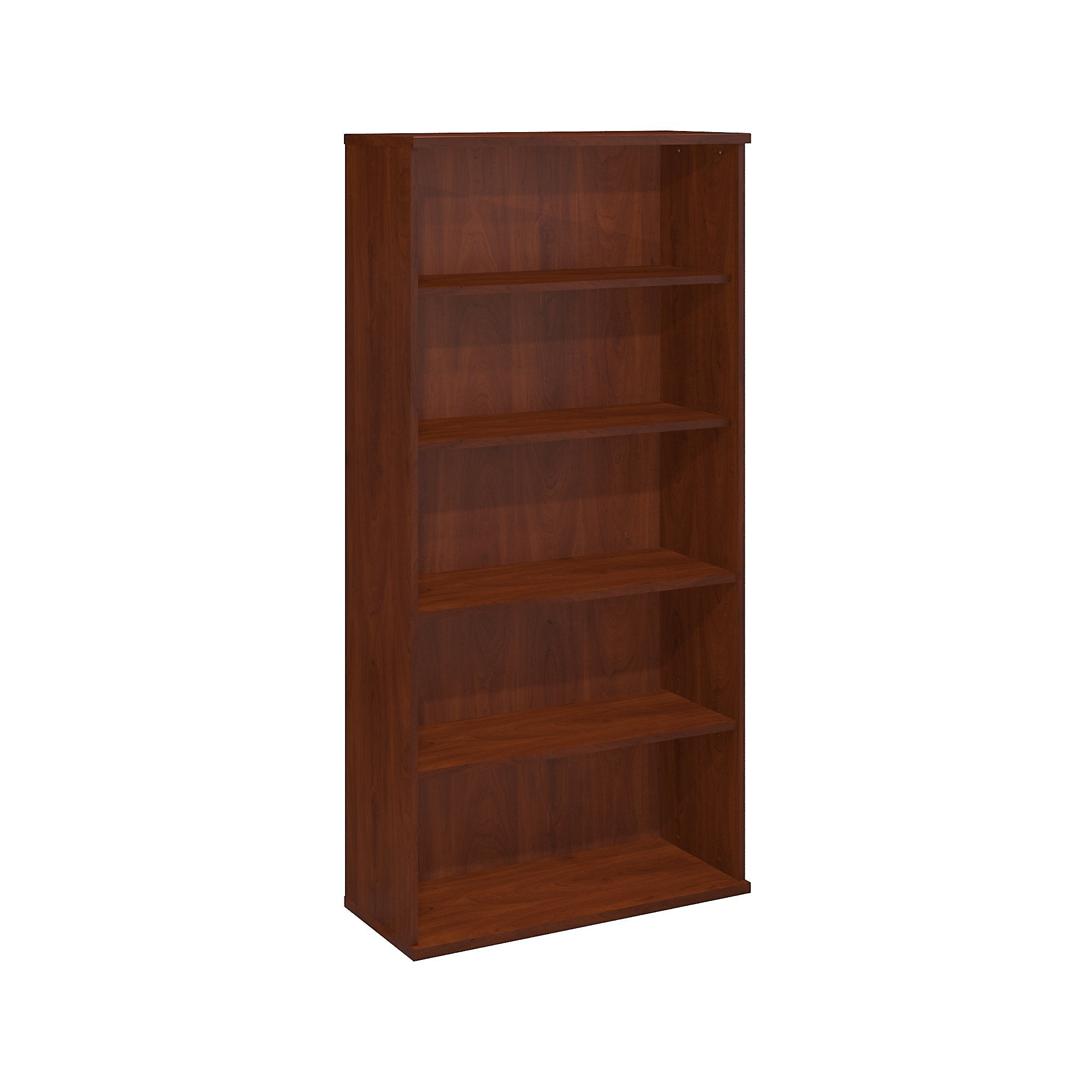 Bush Business Furniture 5 Shelf Bookcase-Hansen Cherry