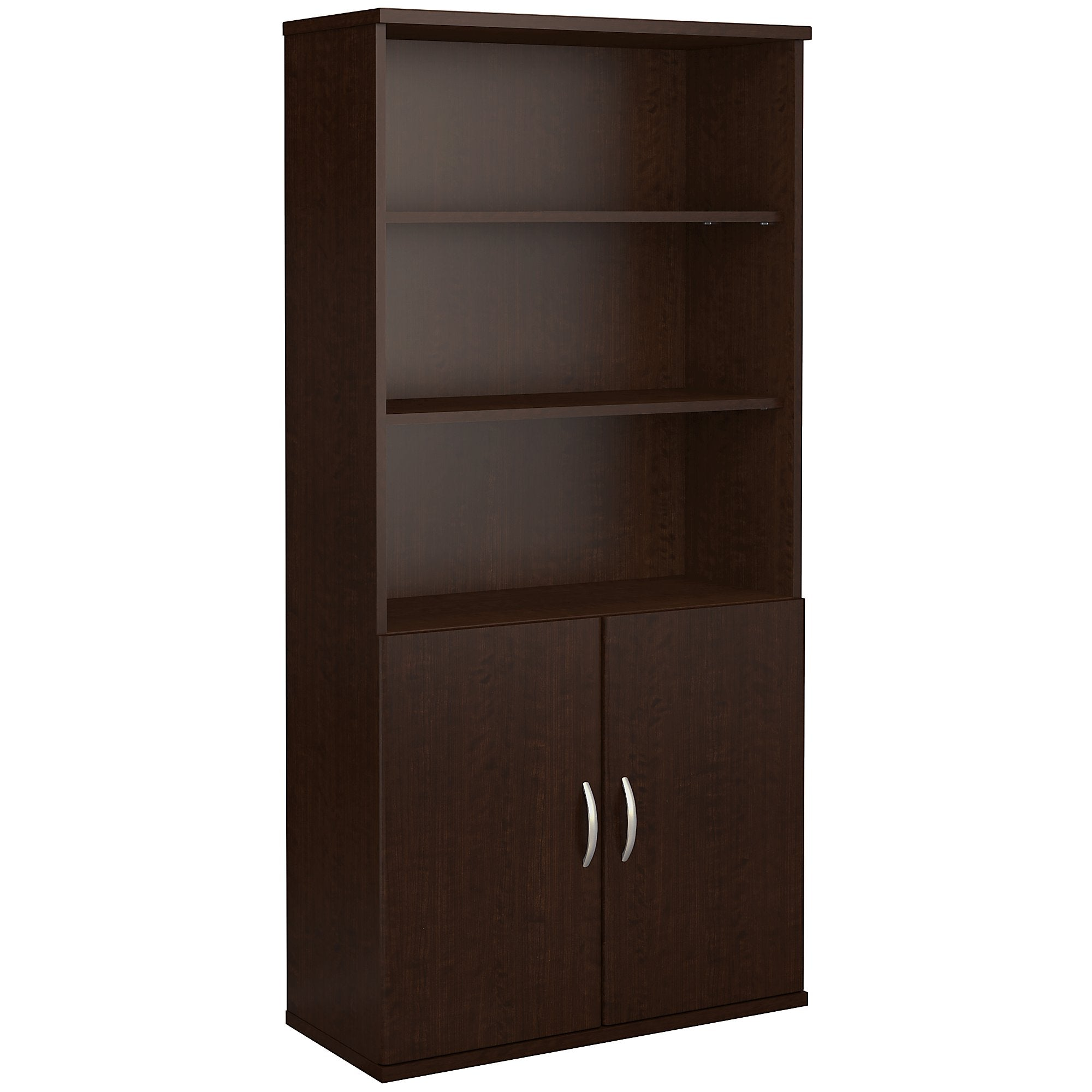 Bush Business Furniture 5 Shelf Bookcase with Doors