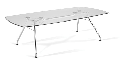 "Ofminc Model GT4794 Glass Top Conference Table, 47"" x 94"""