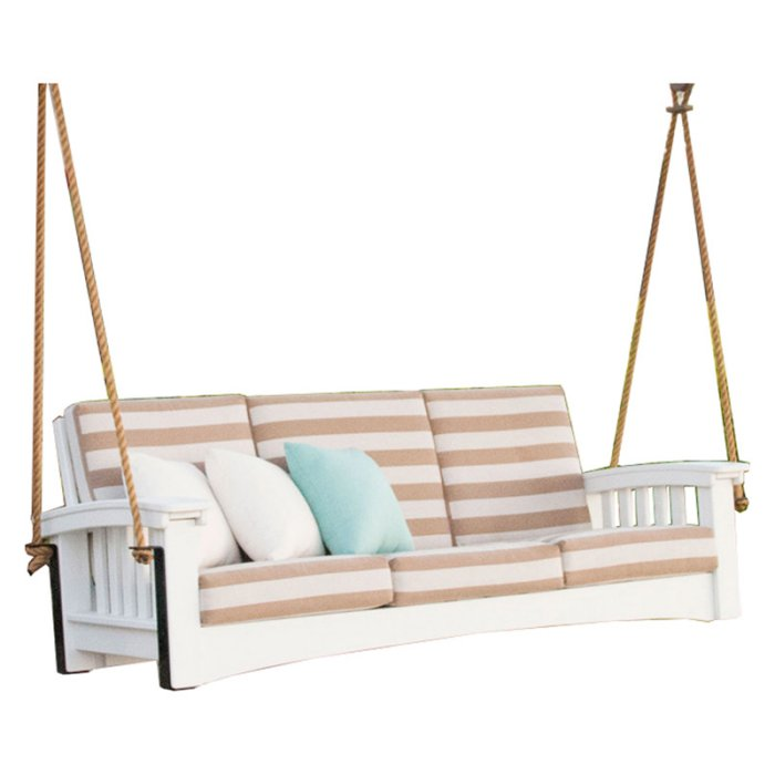 Hershy Way Mission Wood 6 ft Outdoor Sofa Swing