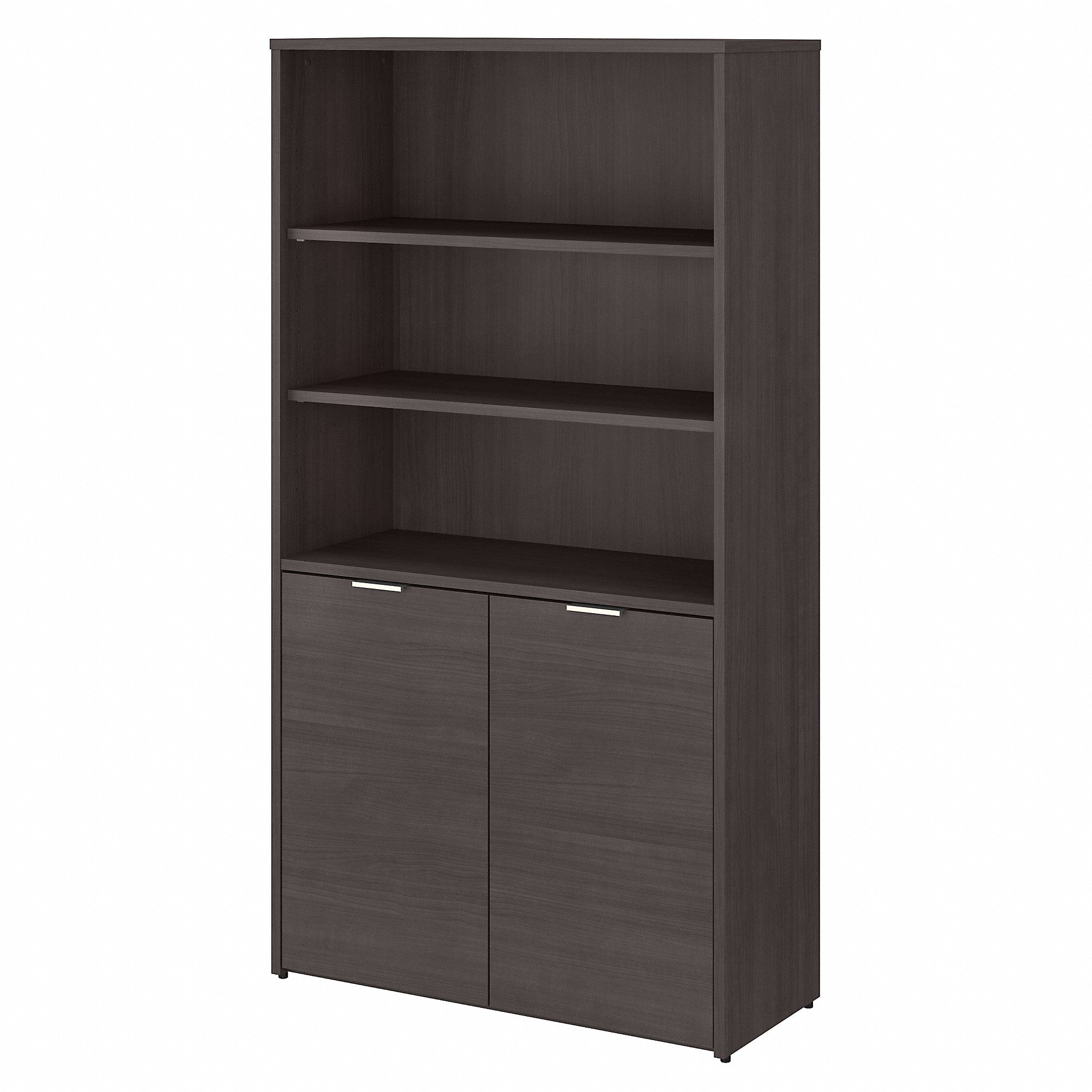 Bush Business Furniture Jamestown 5 Shelf Bookcase with Doors