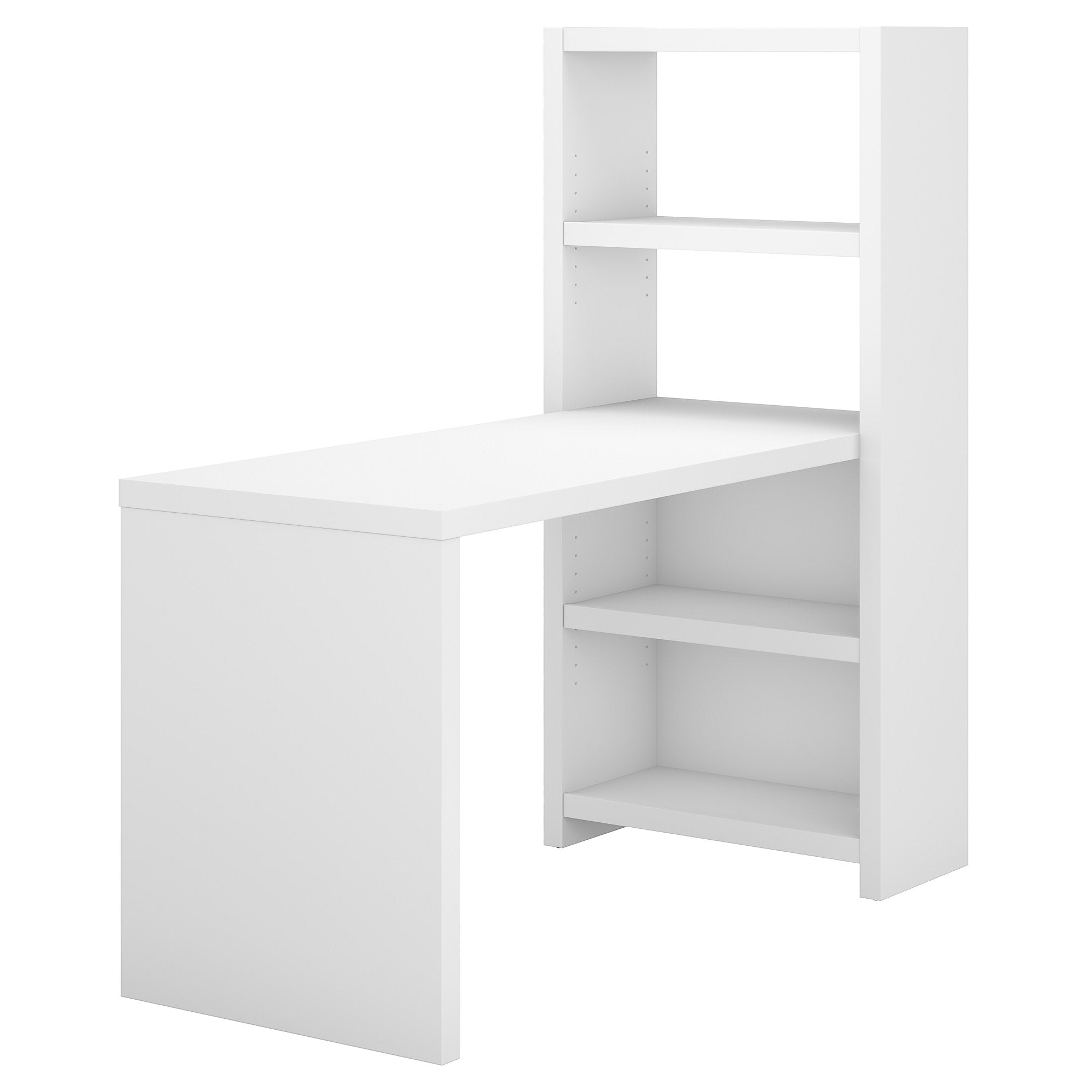 Office by kathy ireland® Pure White Echo 56W Bookcase Desk