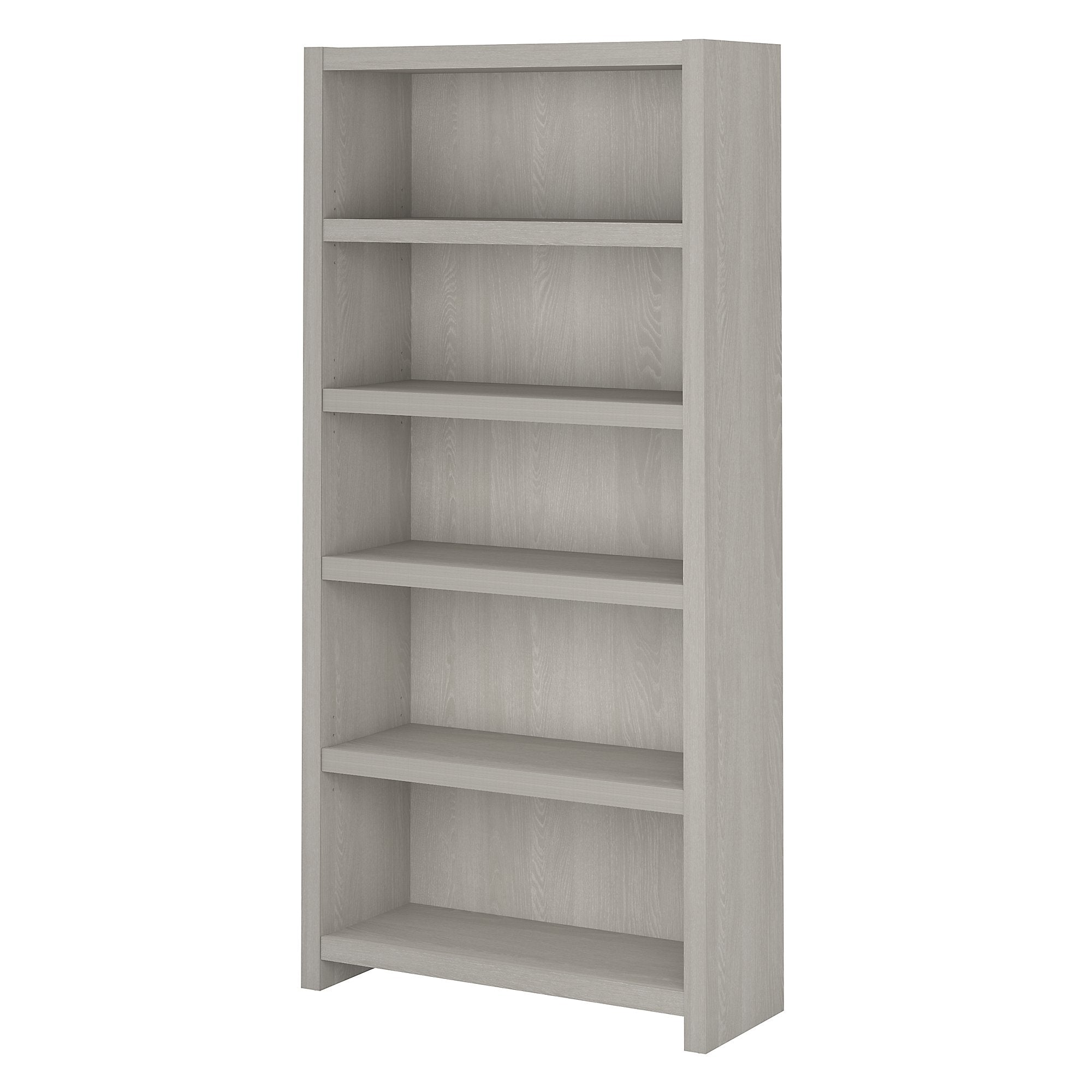 Office by kathy ireland® Gray Sand Echo 5 Shelf Bookcase