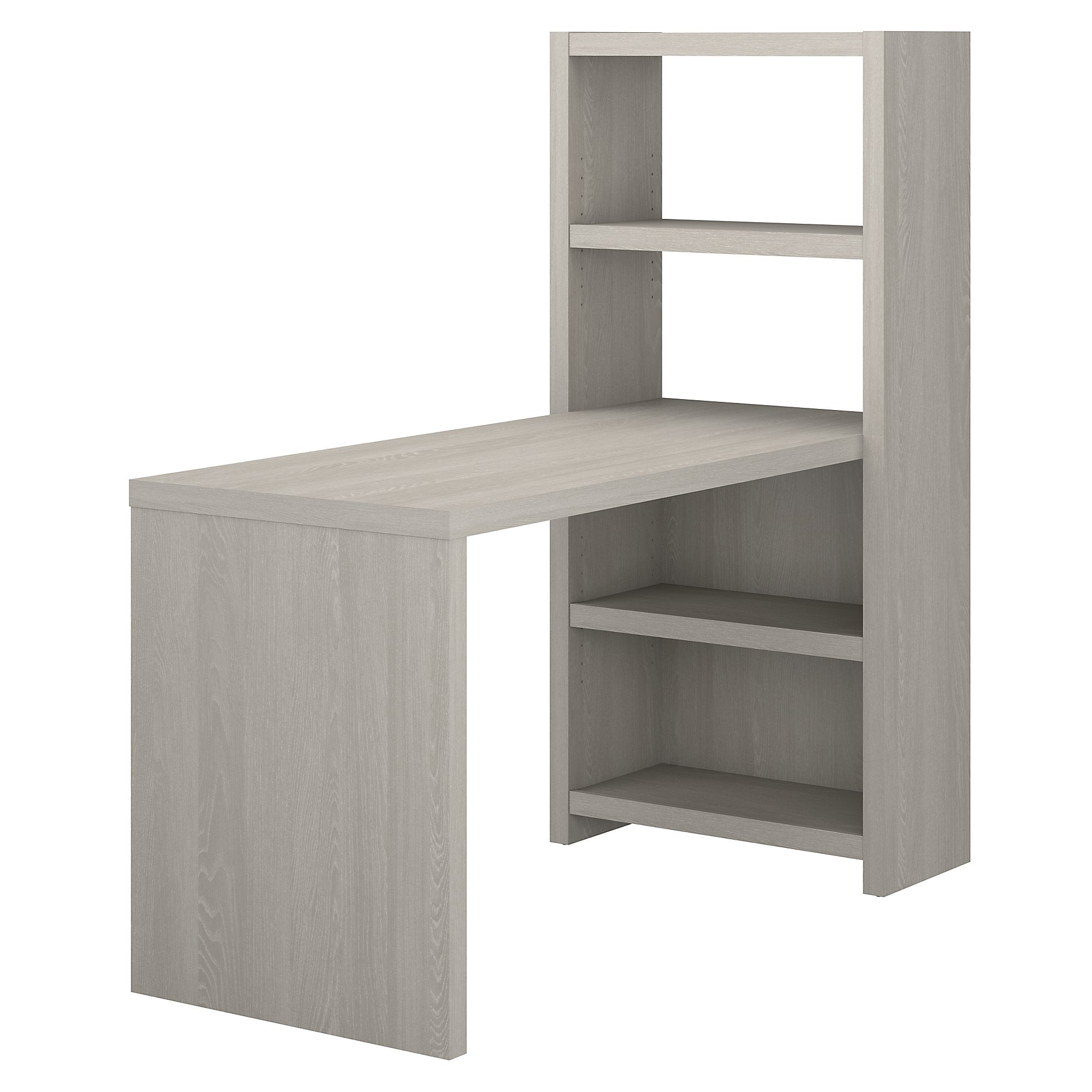 Office by kathy ireland® Gray Sand Echo 56W Bookcase Desk