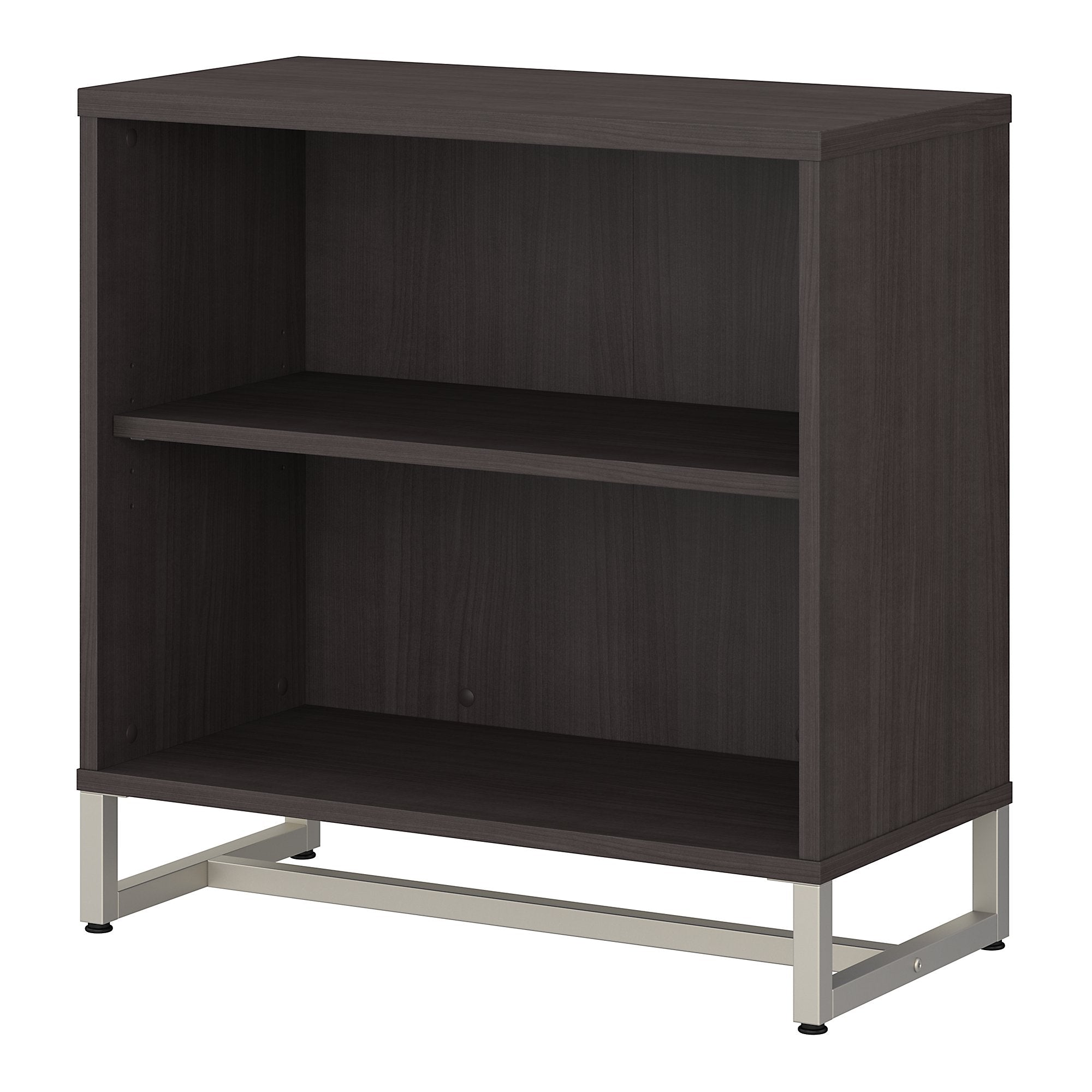 Office by kathy ireland® Method 2 Shelf Bookcase Cabinet -Storm Gray