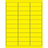 Fluorescent Rectangle Laser Labels