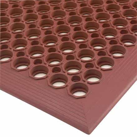 bedinhome - Large Holds Design 3 Inch x 5 Inch - 1/2 Inch Ramp Borders Slip Resistant Drainage Mats- 1 Each - UNBRANDED - Slip Resistant Drainage Mats