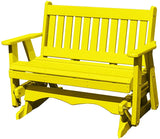 Poly Lumber Mission Porch Glider Heavy Duty-Amish Crafted-Solid Colors