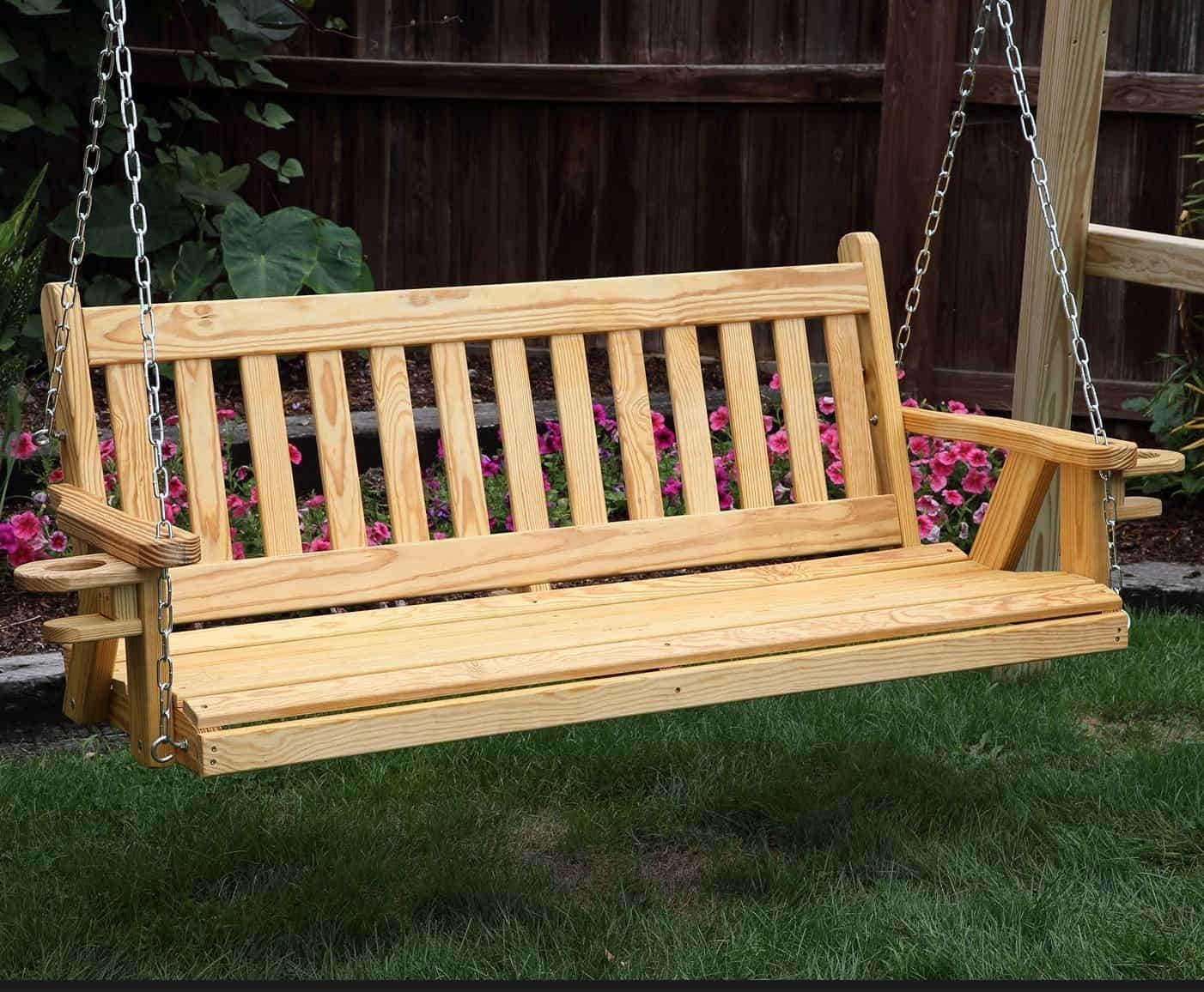 Outdoor Furniture Amish Handcrafted Cypress Lumbar Durable
