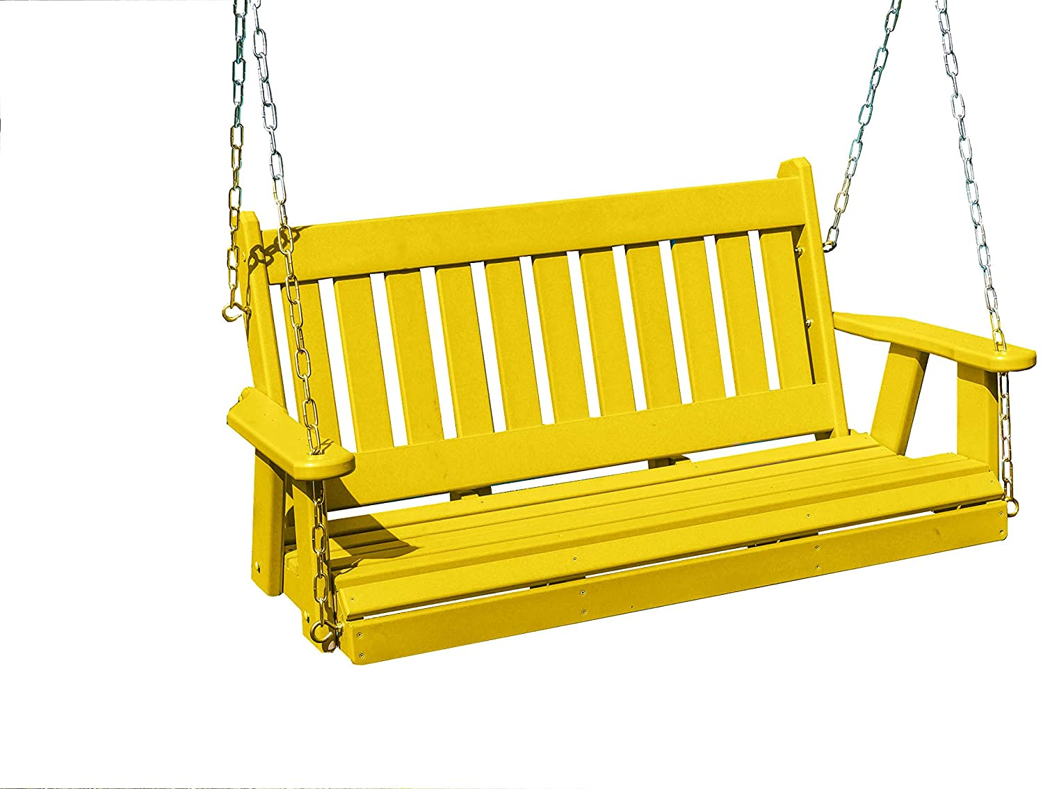 Poly Lumber Mission Porch Outdoor Swing-Amish Crafted-Solid Color