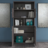 Bush Business Furniture Office 500 5 Shelf Bookcase with Doors