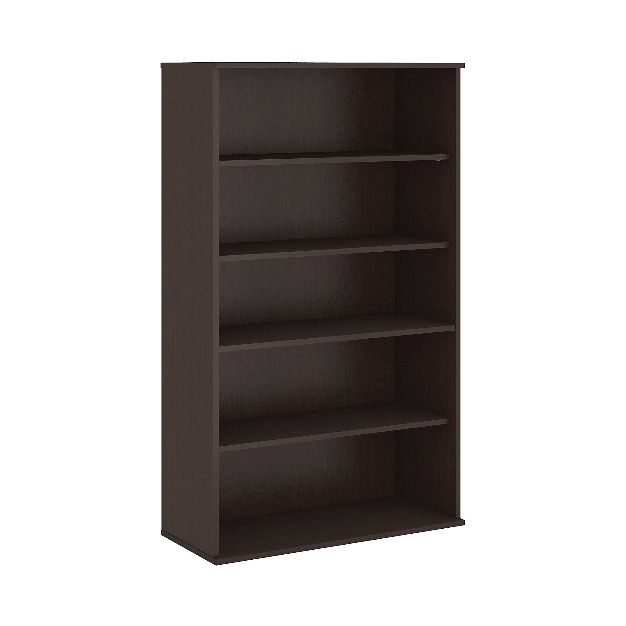 Bush Business Furniture Mocha Cherry Office in an Hour 66H 5 Shelf Bookcase