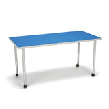 Model RECT-LLC Adapt Series Standard Height Rectanlge Caster Table