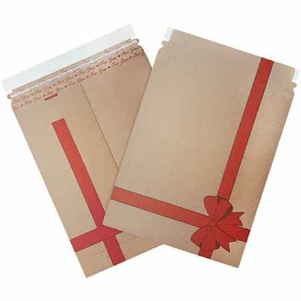 bedinhome - Safety & industrial Supplies Shipping Cartons 9 3/4 Inch x 12 1/4 Inch Gift Print Flat Mailers- Case Of 25 - UNBRANDED - Holiday Print Flat Mailers