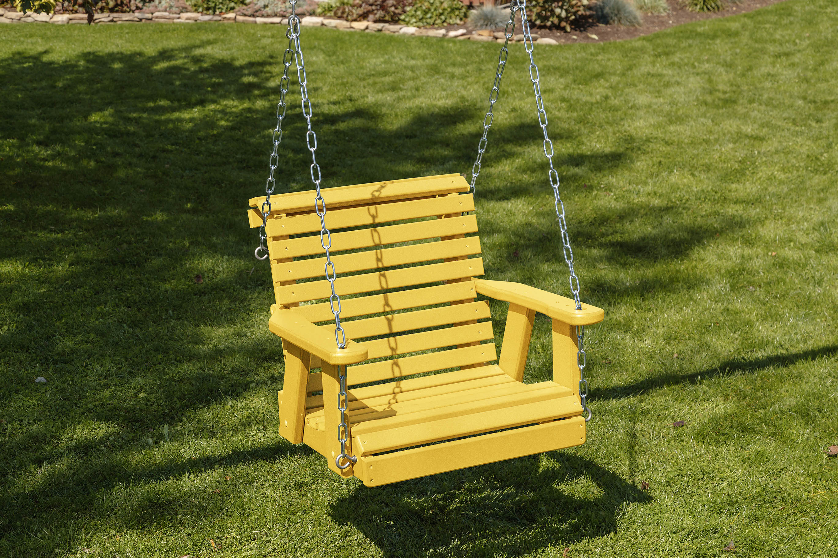 Poly Lumber Roll Back Design Porch Swing-Amish Crafted-Solid Color