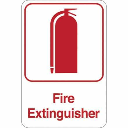 bedinhome - Fire Extinguisher 9 Inch x 6 Inch Facility Sign- 1 Each - UNBRANDED - Facility Signs
