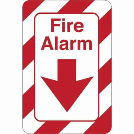 bedinhome - Fire Alarm 9 Inch x 6 Inch Facility Sign- 1 Each - UNBRANDED - Facility Signs