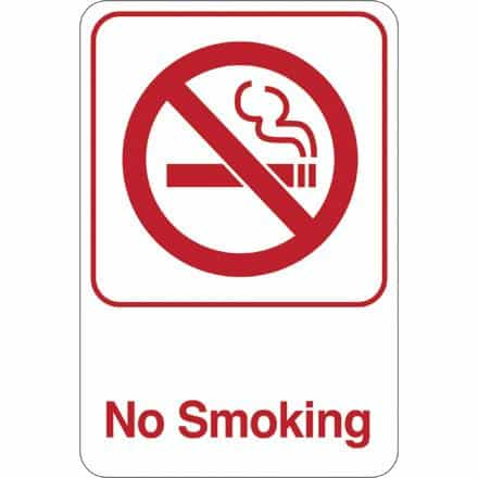 bedinhome - No Smoking 9 Inch x 6 Inch Facility Sign- 1 Each - UNBRANDED - Facility Signs