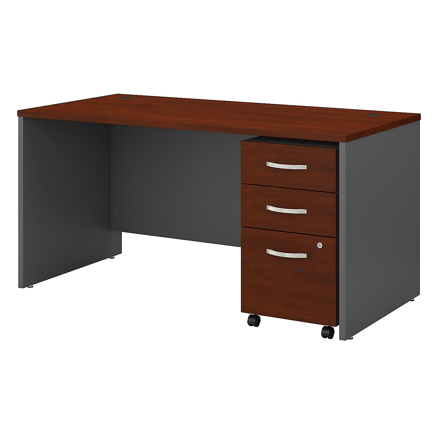 Series C 60W x 30D Office Desk with 3 Drawer Mobile File Cabinet