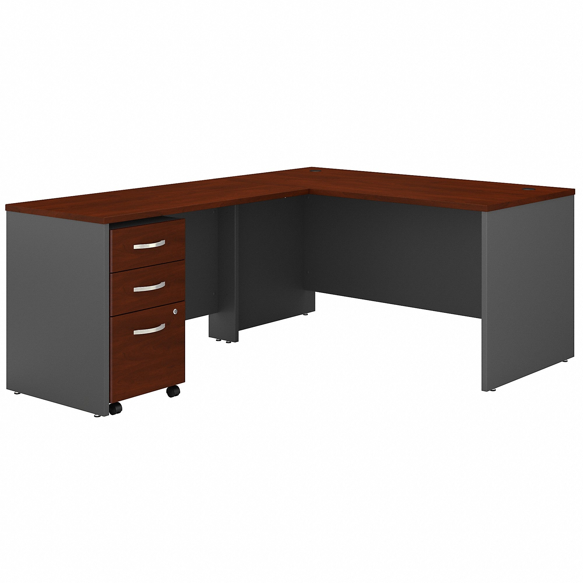 Series C 60W L Shaped Desk with 3 Drawer Mobile File Cabinet