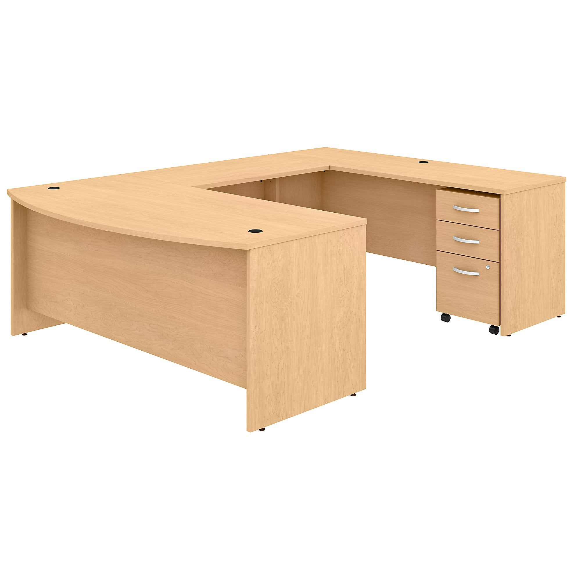 Studio C 72W x 36D U Shaped Desk with Mobile File Cabinet