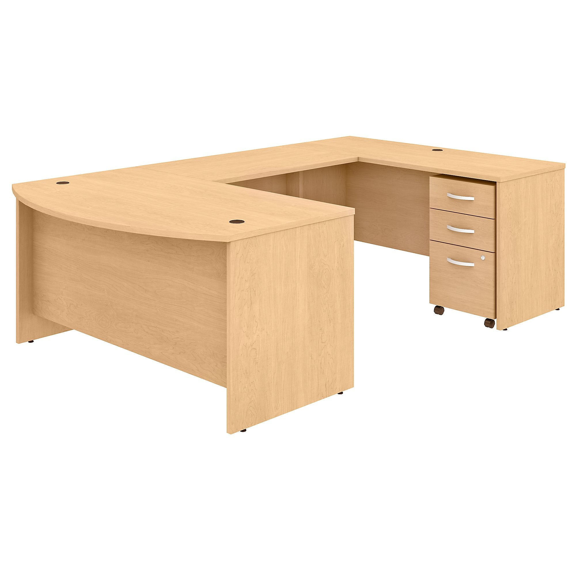 Studio C 60W x 36D U Shaped Desk with Mobile File Cabinet