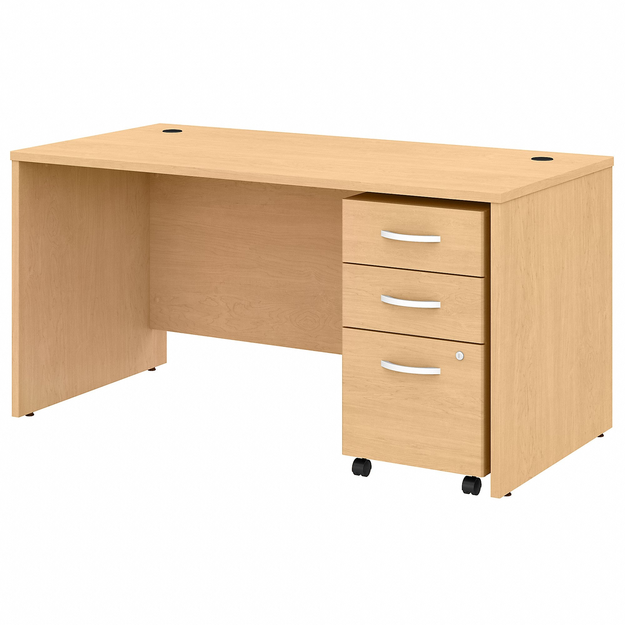 Studio C 60W x 30D Office Desk with Mobile File Cabinet