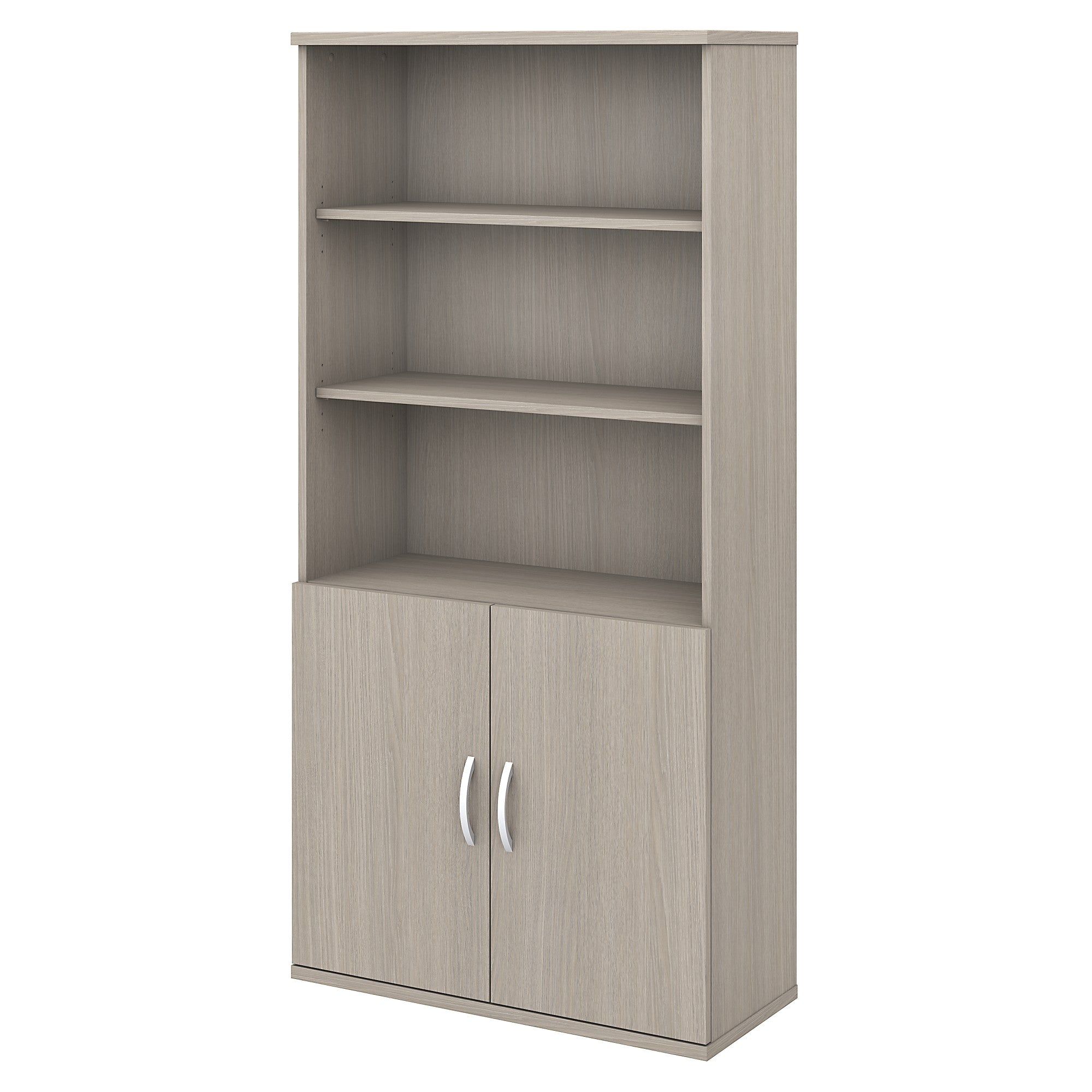 Studio C 5 Shelf Bookcase with Doors -Sand Oak