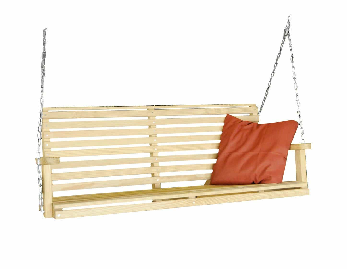 HershyWay Amish Handcrafted 5ft Pine Swings With Hanging Chain