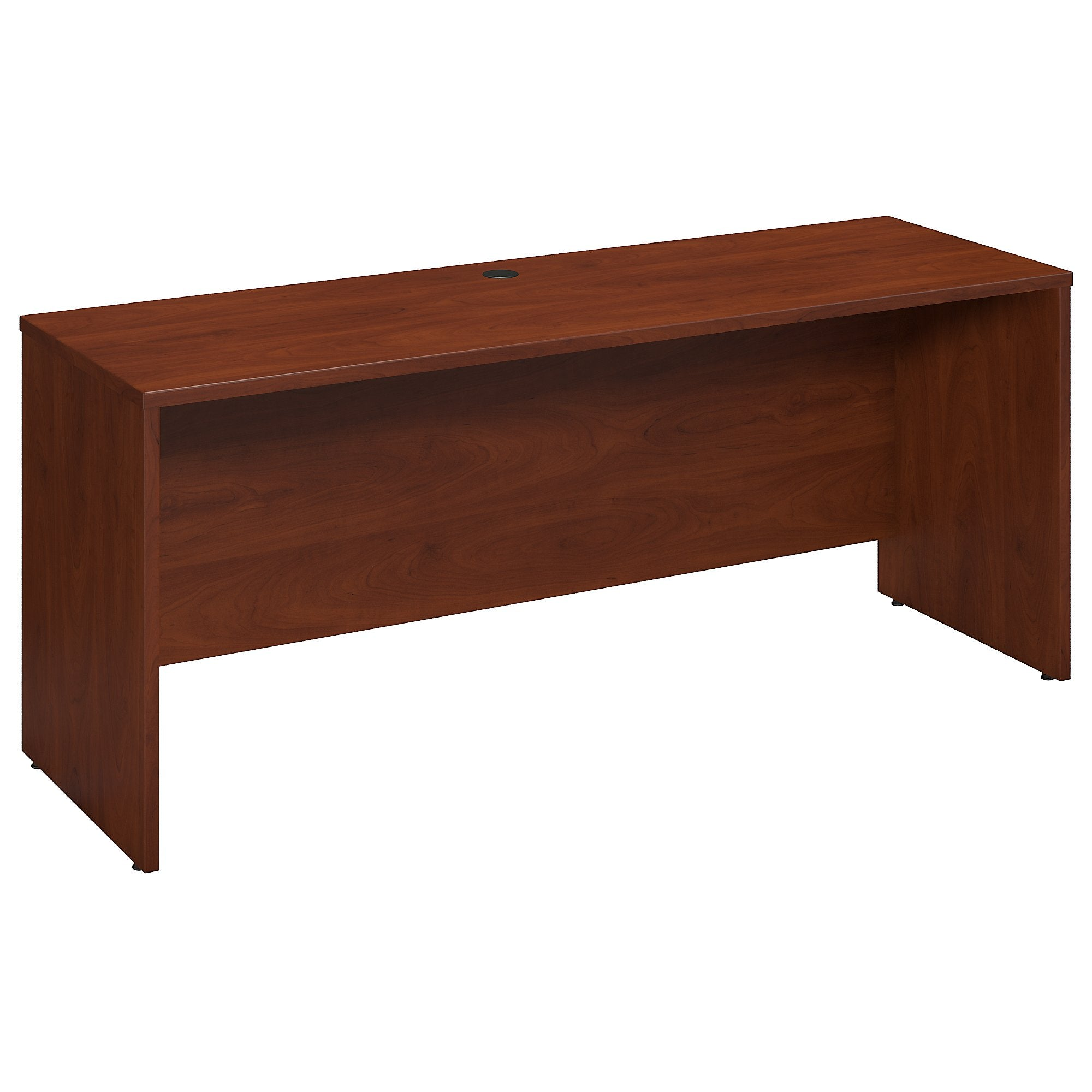Bush Business Furniture Hansen Cherry Series C Elite 72W x 24D Desk/Credenza/Return